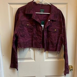 NWT Wild Fable crop army jean jacket